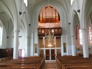 Orgel na overplaatsing en ombouw.
