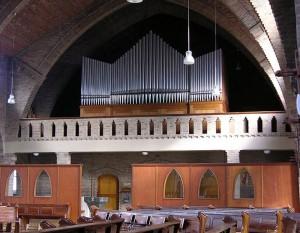 Orgel na inbouw in bestaande orgelkast.